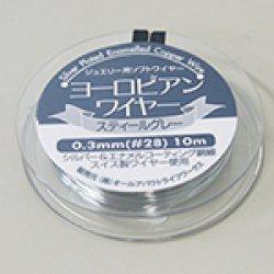画像1: ヨーロピアンワイヤー#28【0.3mm】スティールグレー10m巻